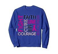 Pink Ribbon Breast Cancer Fighters Survivors Awareness Shirt T Shirt Sweatshirt Royal Blue