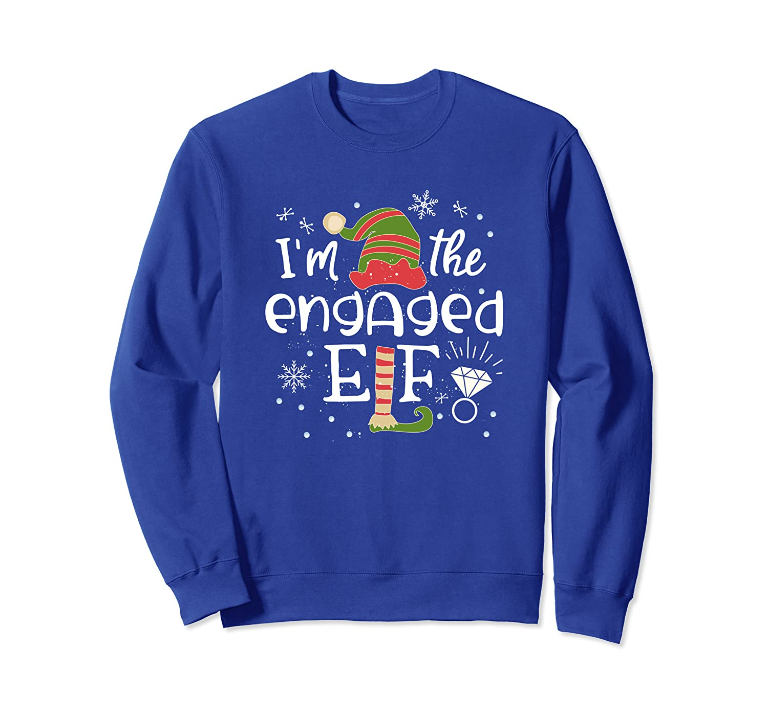 Engaged Elf Matching Family Group Christmas Outfit 2019 Sweatshirt-TH