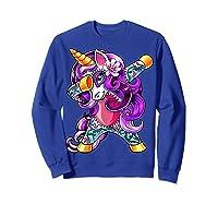 Dabbing Unicorn Day Of The Dead Halloween Girls Gift Shirts Sweatshirt Royal Blue