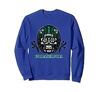 Philadelphia Football Helmet Sugar Skull Day Of The Dead T Shirt Sweatshirt Royal Blue