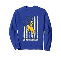 Wing Cow Nation Flag T Shirt Apparel Sweatshirt Royal Blue