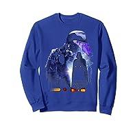 S Darth Vader Shadow Silhouette Shirts Sweatshirt Royal Blue