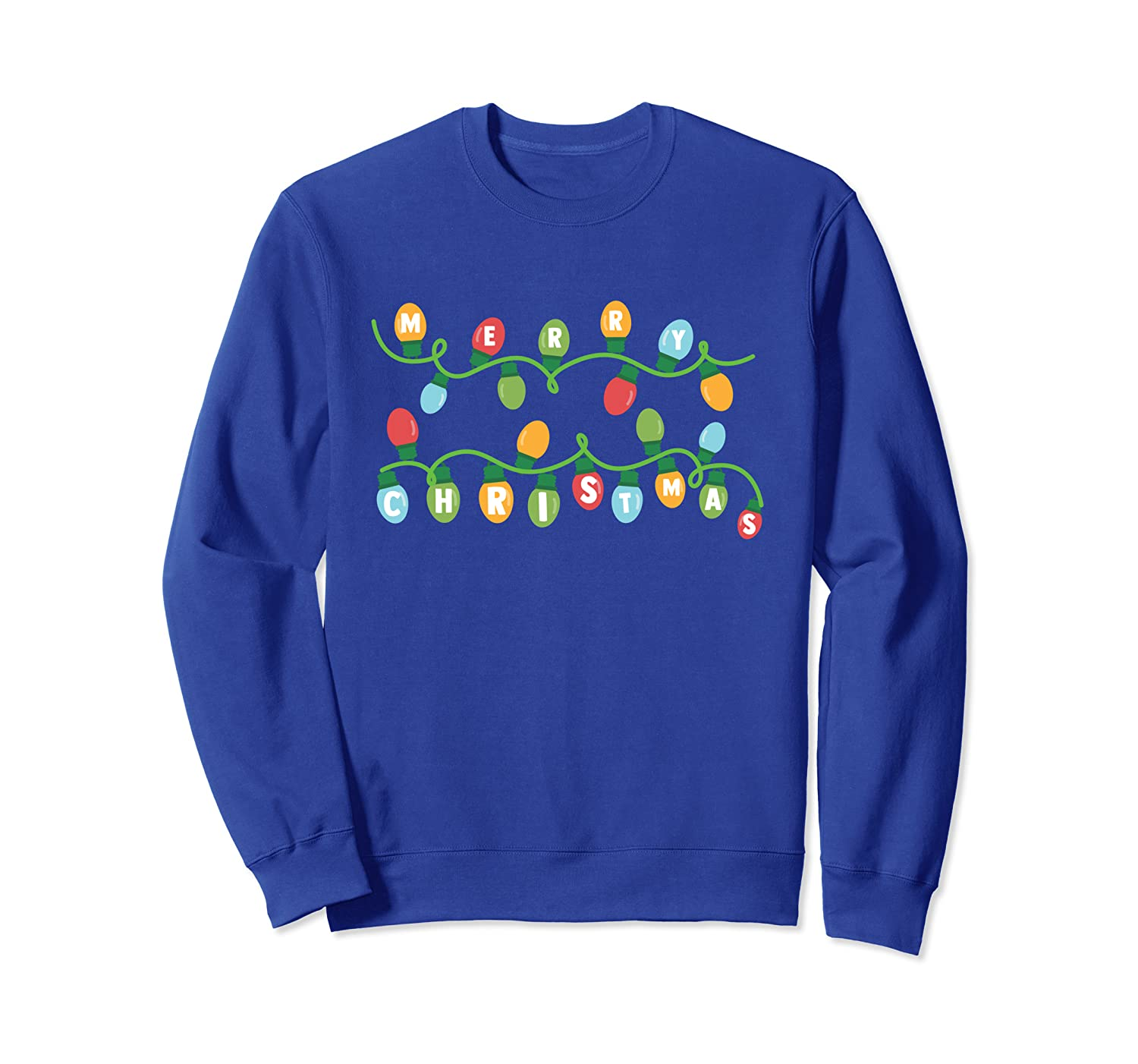 Christmas Lights - Merry Christmas Designs Sweatshirt