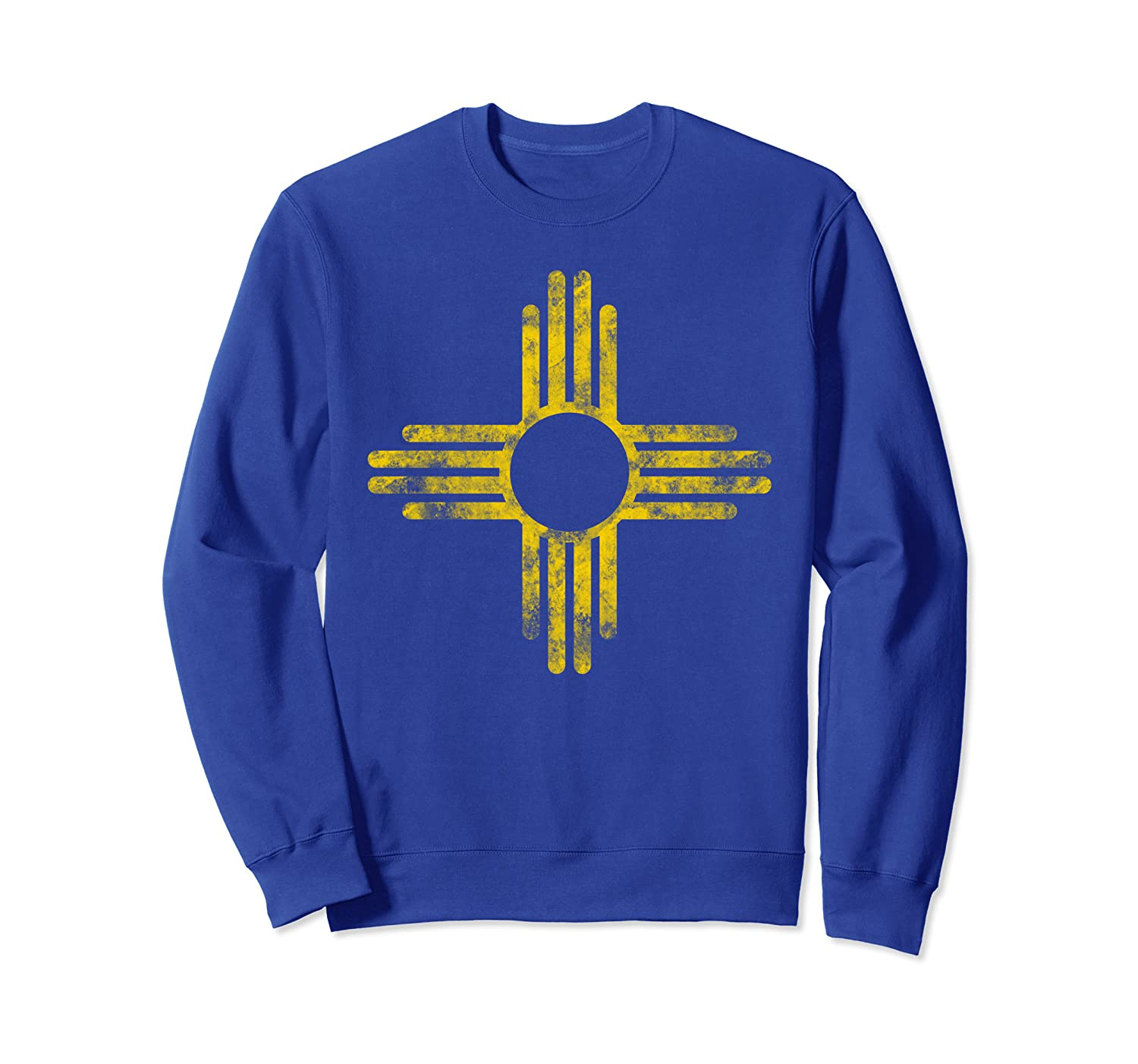 Vintage New Mexico Flag Yellow Zia Sun Symbol Sweatshirt-TH