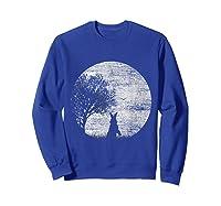 Nature Animal Gift Idea Easter Rabbit Moon Rabbit T Shirt Sweatshirt Royal Blue
