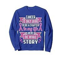 Breast Cancer Awareness Month Pink Ribbon Warrior T T Shirt Sweatshirt Royal Blue