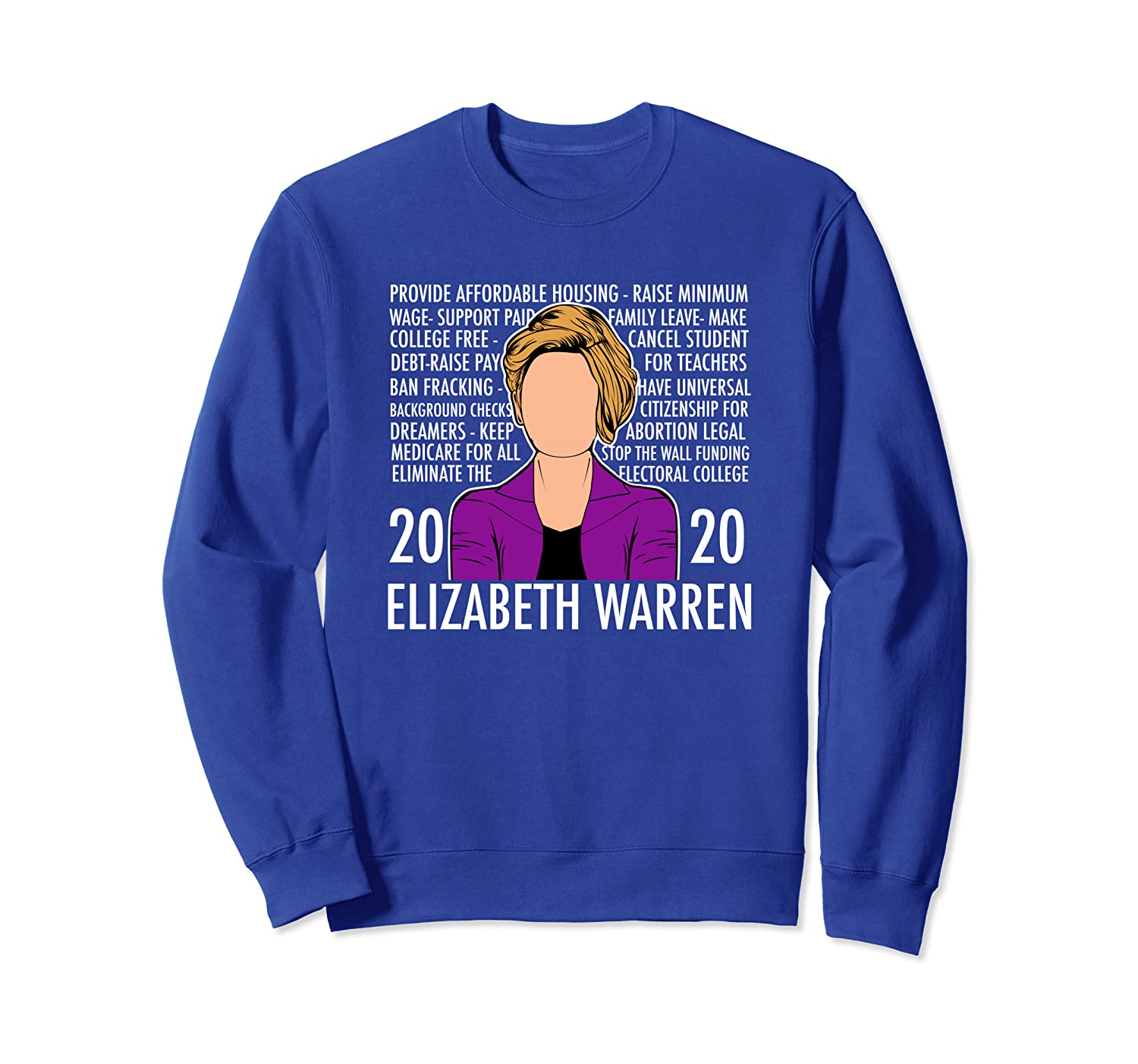 Reasons to Vote for Elizabeth Warren - Democratic Platform Sweatshirt Unisex Tshirt