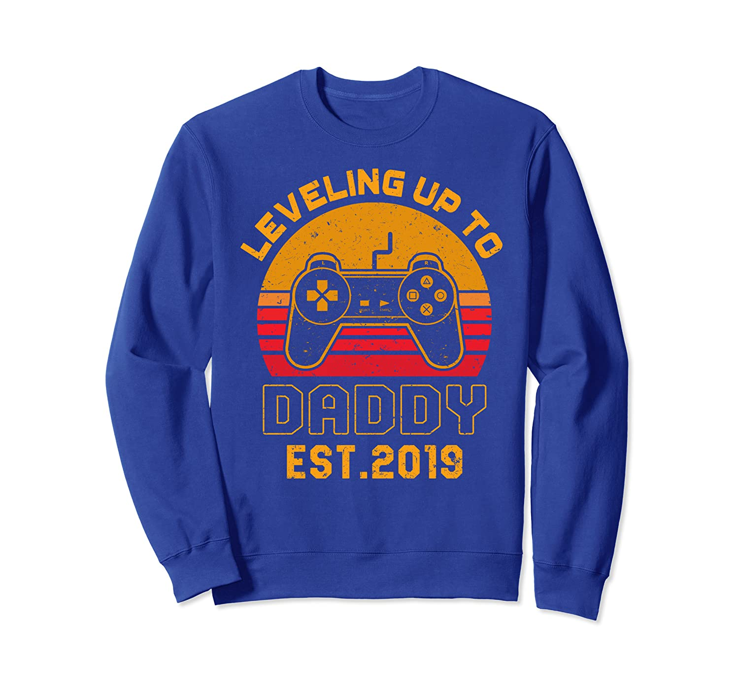 Promoted To Daddy Shirt New Father Gamer Dad Gift Sweatshirt-TH