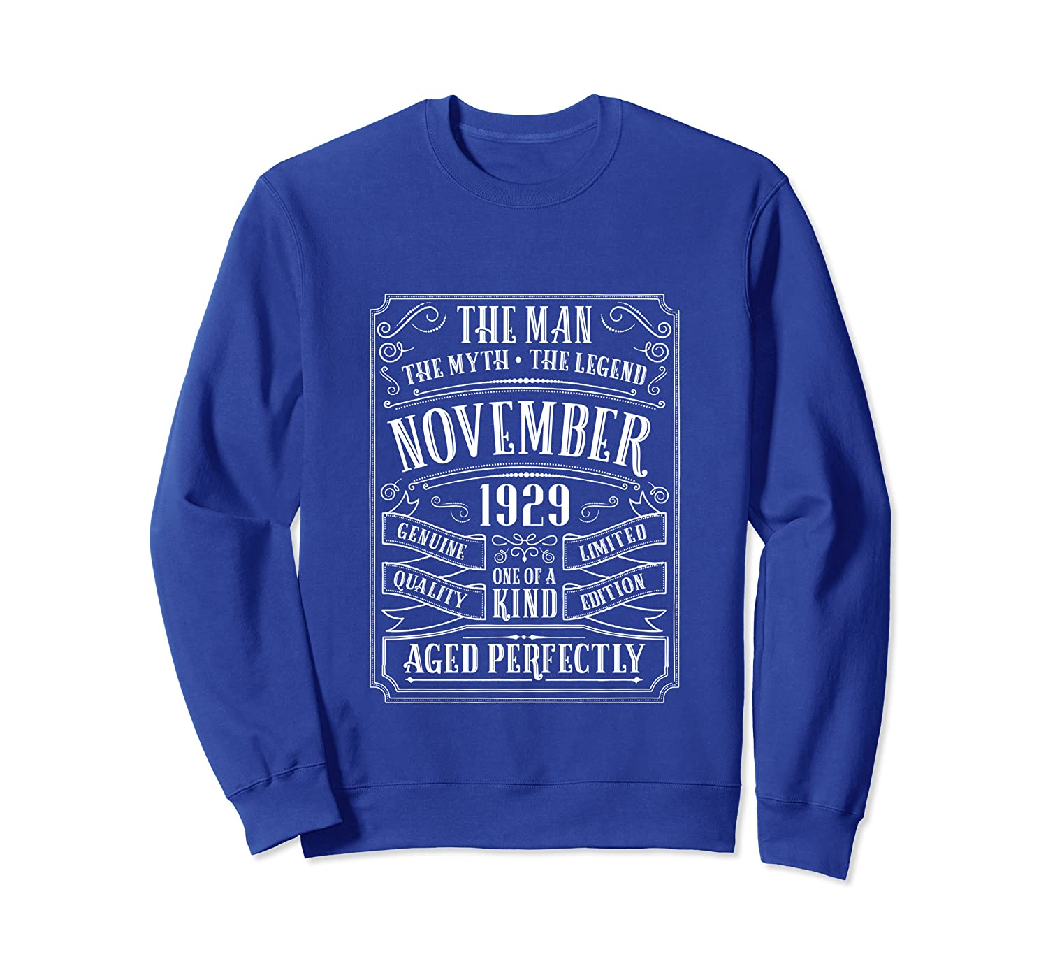 90th Birthday Gift for 90 Year Old Grandpa Men November 1929 Sweatshirt-TH