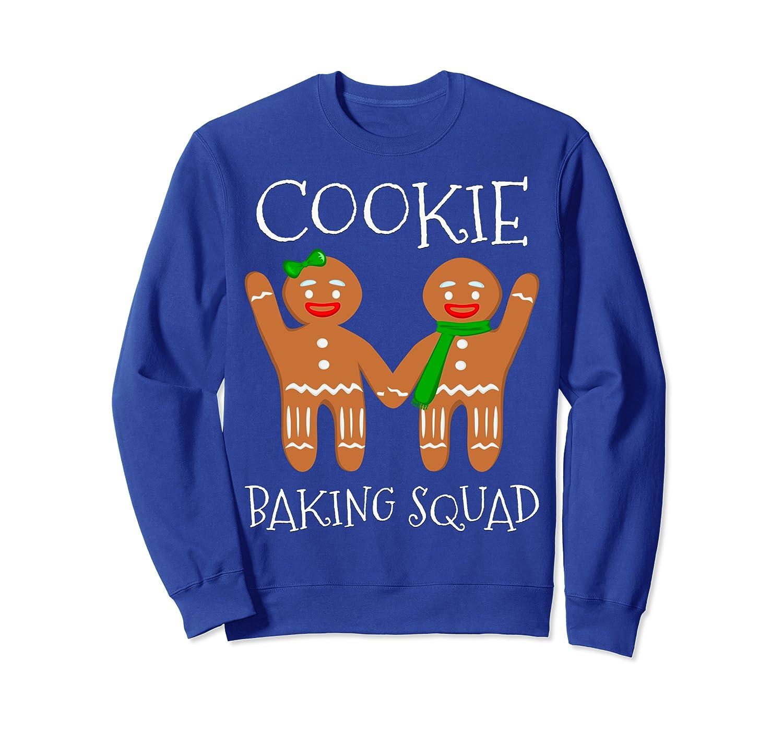Cookie Baking Squad Funny Vintage Christmas Gingerbread Man Sweatshirt-TH