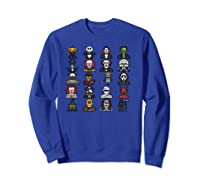 Friends Cartoon Halloween Character Scary Horror Movies Pullover Shirts Sweatshirt Royal Blue