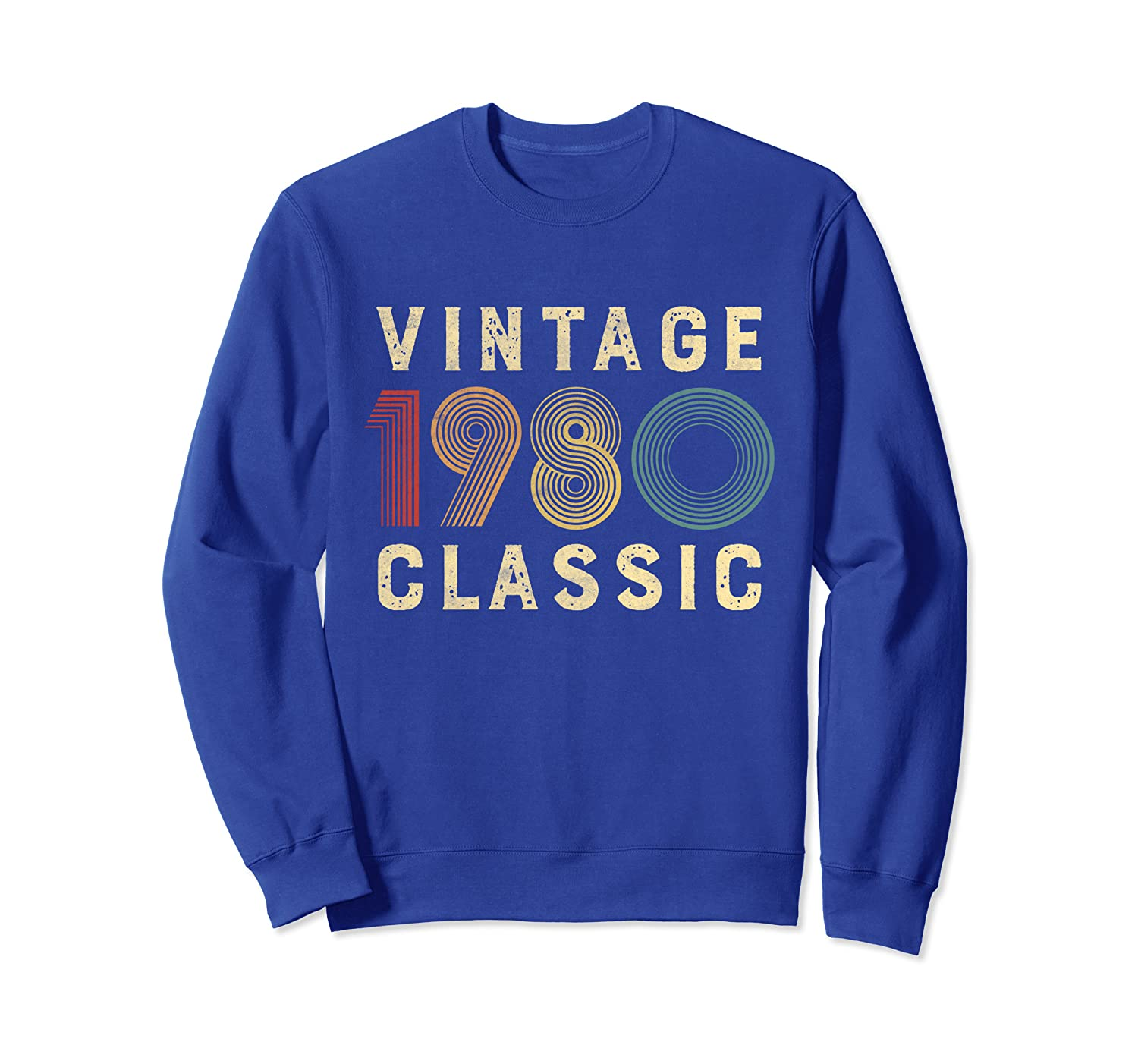 1980 40th Birthday Gift Retro Vintage Classic For Men Women Sweatshirt