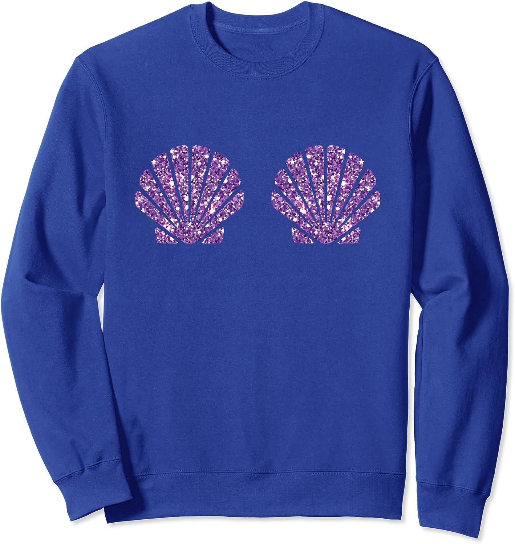 Mermaid Sea Shell Bra Costume Halloween Design Sweatshirt-TH