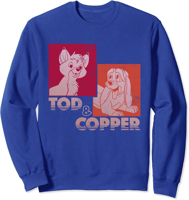 Disney The Fox and the Hound Tod /& Copper Retro Sweatshirt