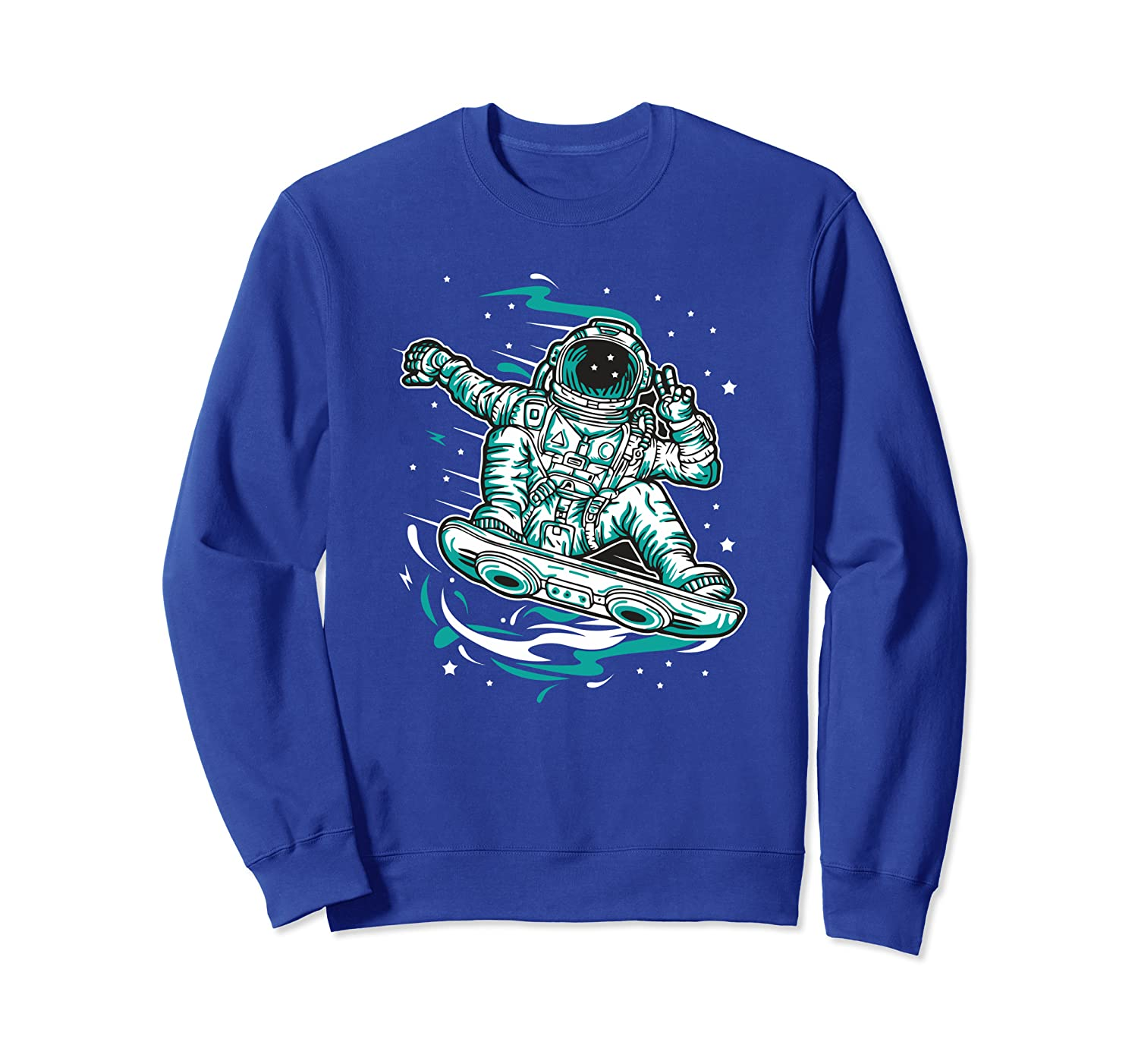 Astronaut Hoverboard Spaceman Skater By Skaters for Skaters Sweatshirt