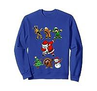 Dabbing Santa Friends Christmas Girls Xmas Gifts Shirts Sweatshirt Royal Blue