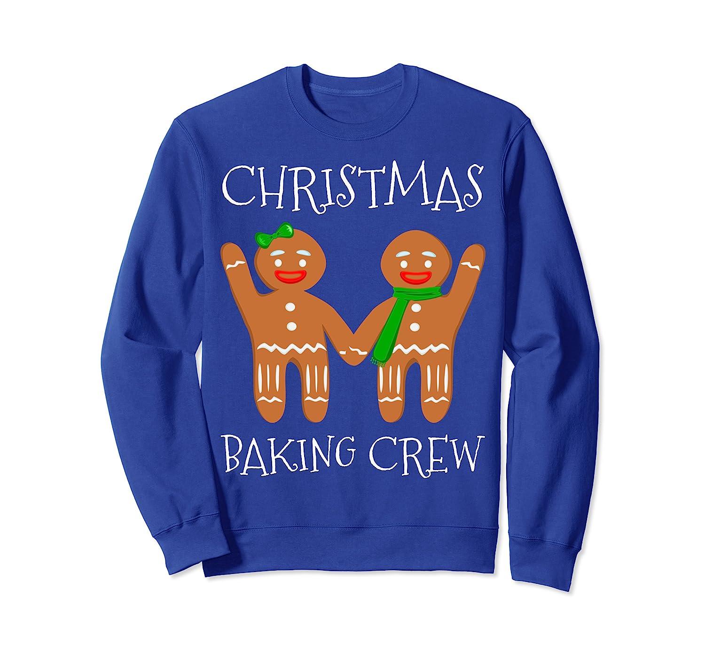 Christmas Baking Crew - Funny Vintage Xmas Gingerbread Man Sweatshirt-TH
