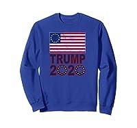 B Ross Flag Trump 2020 Star Design Shirts Sweatshirt Royal Blue