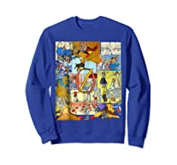 Wizard Of Oz Montage Shirts Sweatshirt Royal Blue