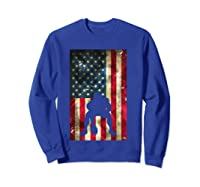 Flag Football Pittsburgh Lineman Gift Shirts Sweatshirt Royal Blue