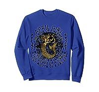 April Girl The Soul Of A Mermaid Tshirt Funny Gifts T Shirt Sweatshirt Royal Blue