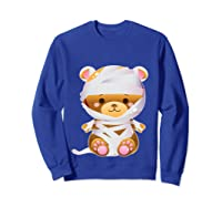Mummy Bear Halloween Out Costume Party Gifts Pullover Shirts Sweatshirt Royal Blue