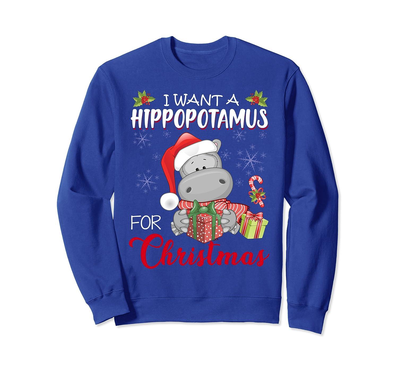 I Want A Hippopotamus For Christmas Xmas Hippo for Kid Women Sweatshirt-TH