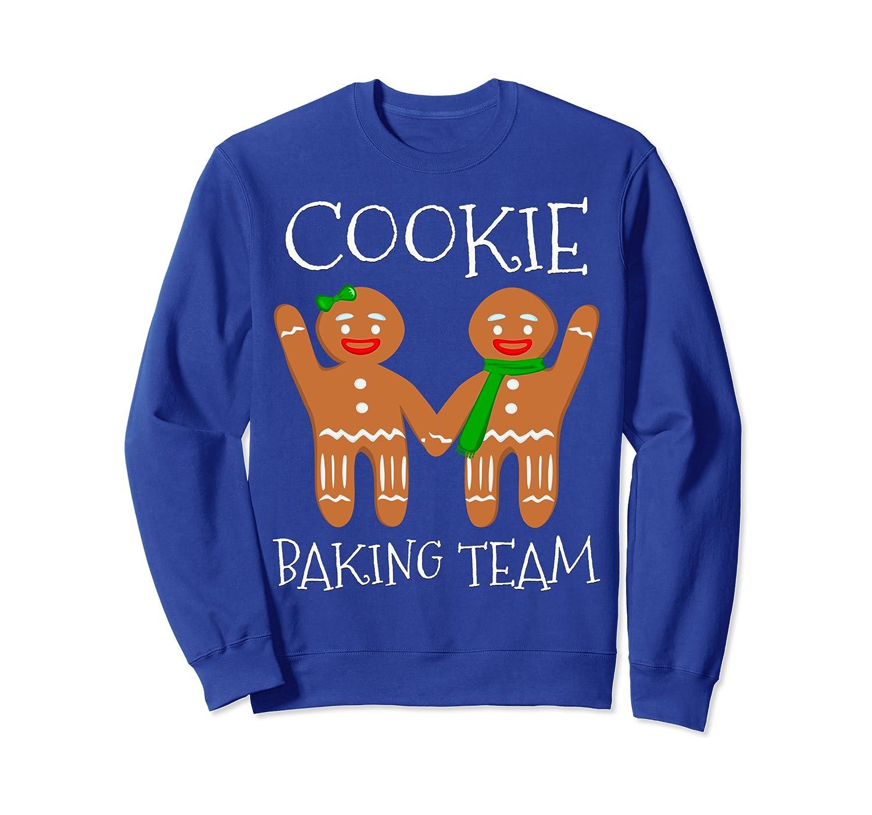 Cookie Baking Team - Funny Vintage Christmas Gingerbread Man Sweatshirt-TH