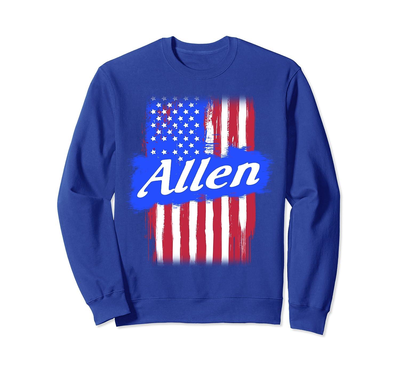 Allen American Flag Gift For Men Women Surname Last Name Sweatshirt
