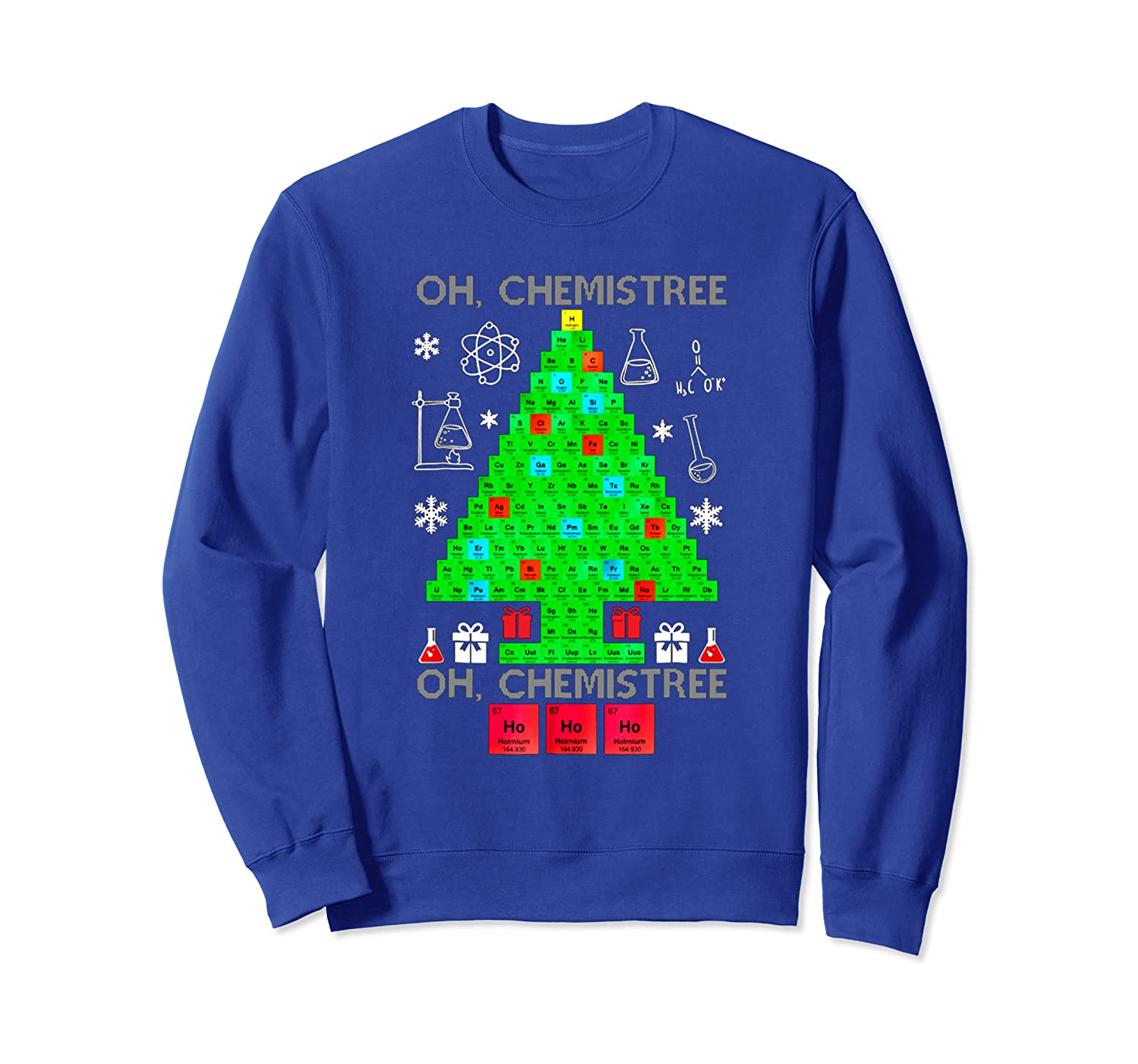 Christmas Tree Funny Chemis Tree Sweatshirt