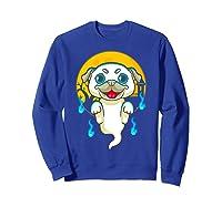 Cute Pug Dog Lover Ghost Funny Halloween Costume Gifts Shirts Sweatshirt Royal Blue