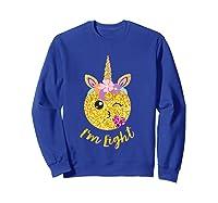8th Birthday Emoticon Shirt Unicorn 8 Year Girl Sweet Face T-shirt Sweatshirt Royal Blue