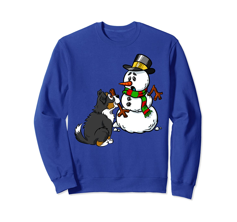 Bernese Mountain Dog Snowman Arm Funny Dog Christmas Gift  Sweatshirt