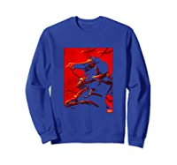 Disney Mulan And Khan Two Tone Red Movie Poster Shirts Sweatshirt Royal Blue