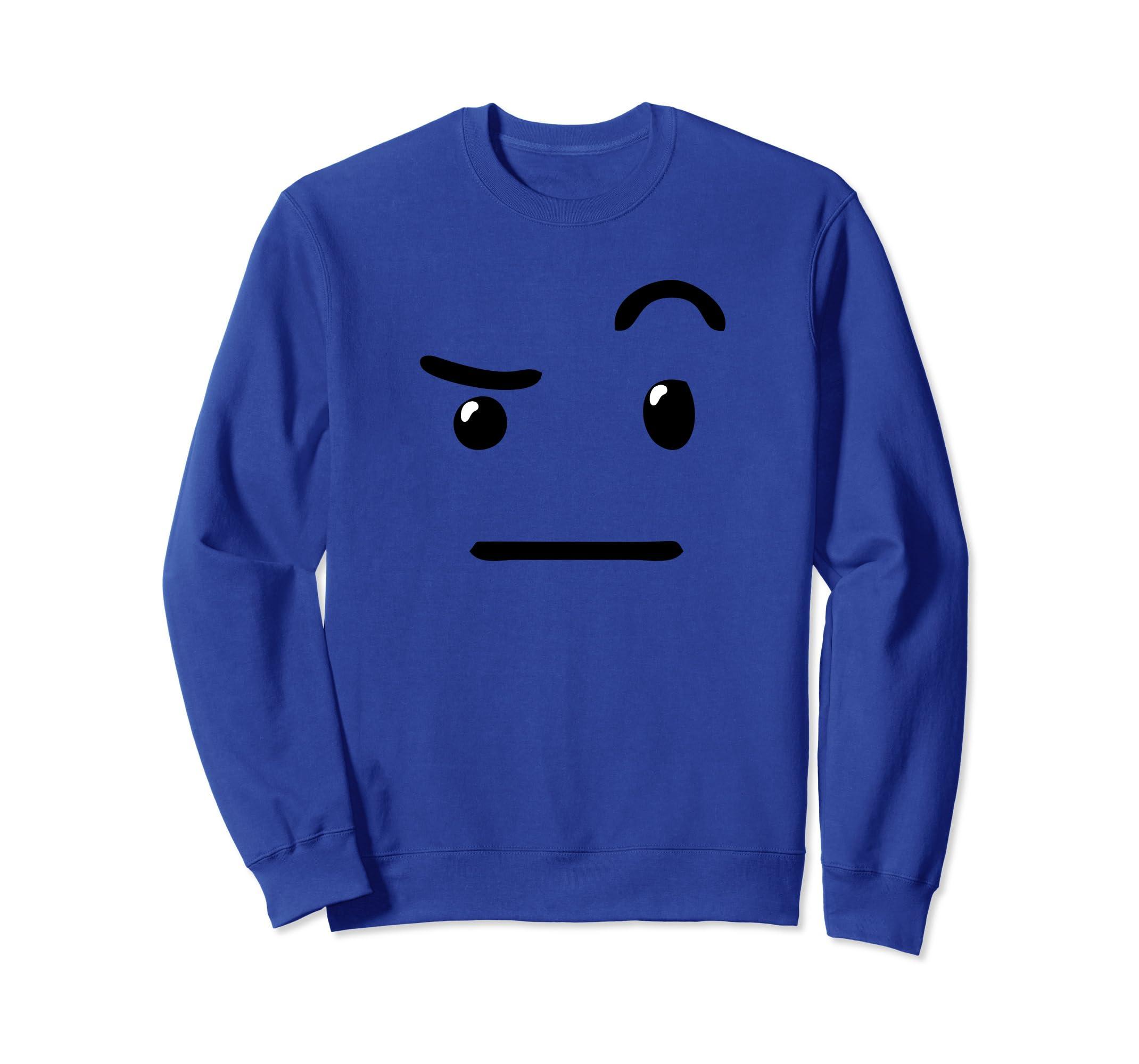 Amazon Raised Eyebrow Unsure Emojis Costume Party Sweatshirt