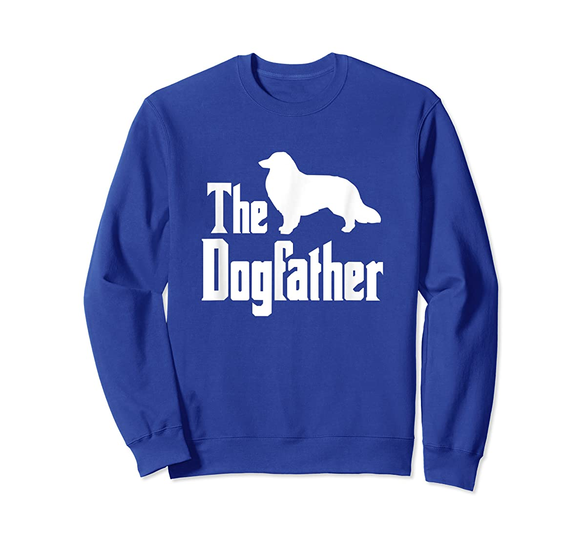 The Dogfather - funny Rough Collie T-Shirt, funny dog gift-Sweatshirt-Royal