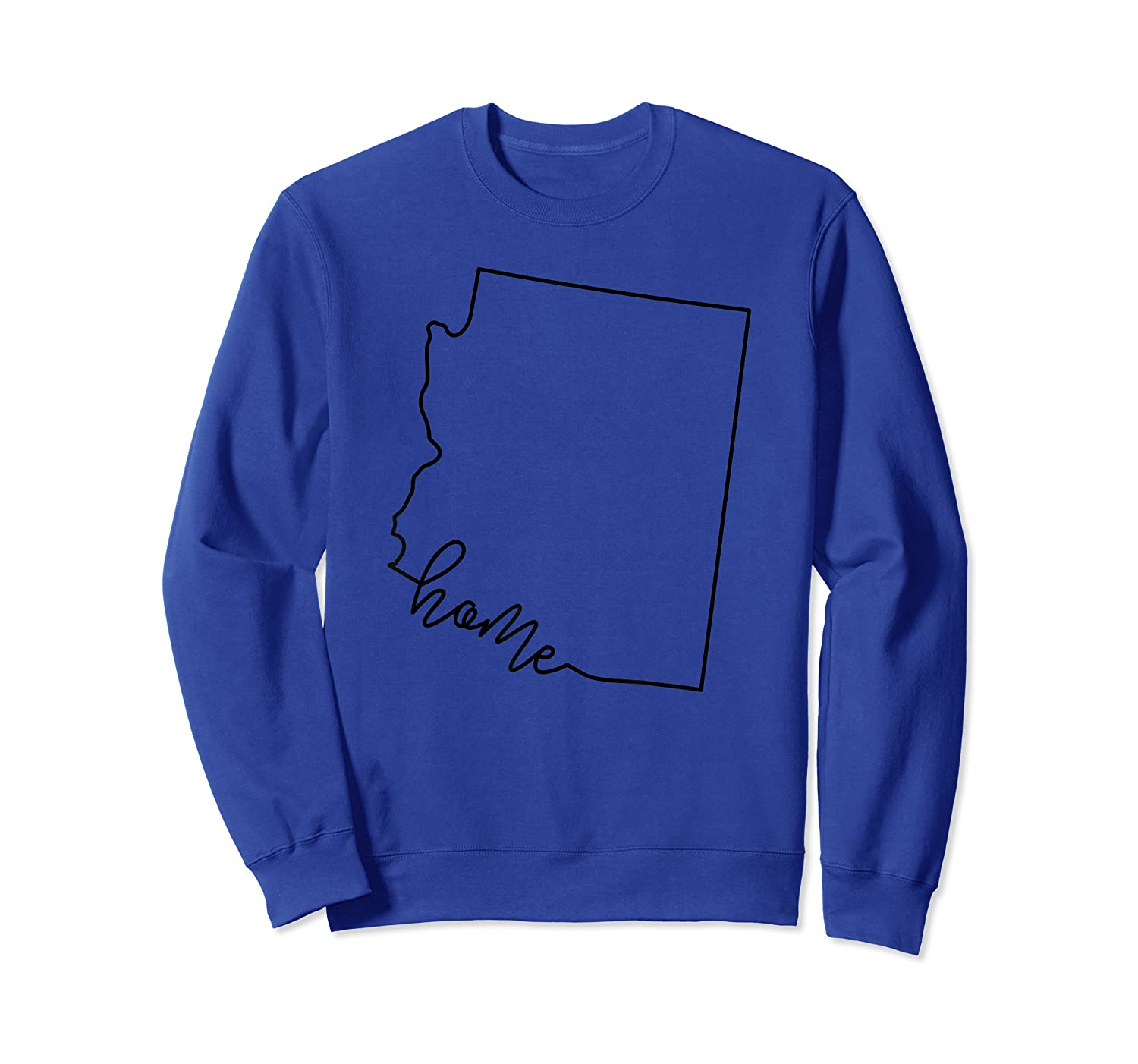 Arizona State Outline With Home Script Acj003a T-shirt Crewneck Sweater