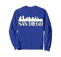 San Diego City Skyline Hot 2019 T Shirt Sweatshirt Royal Blue