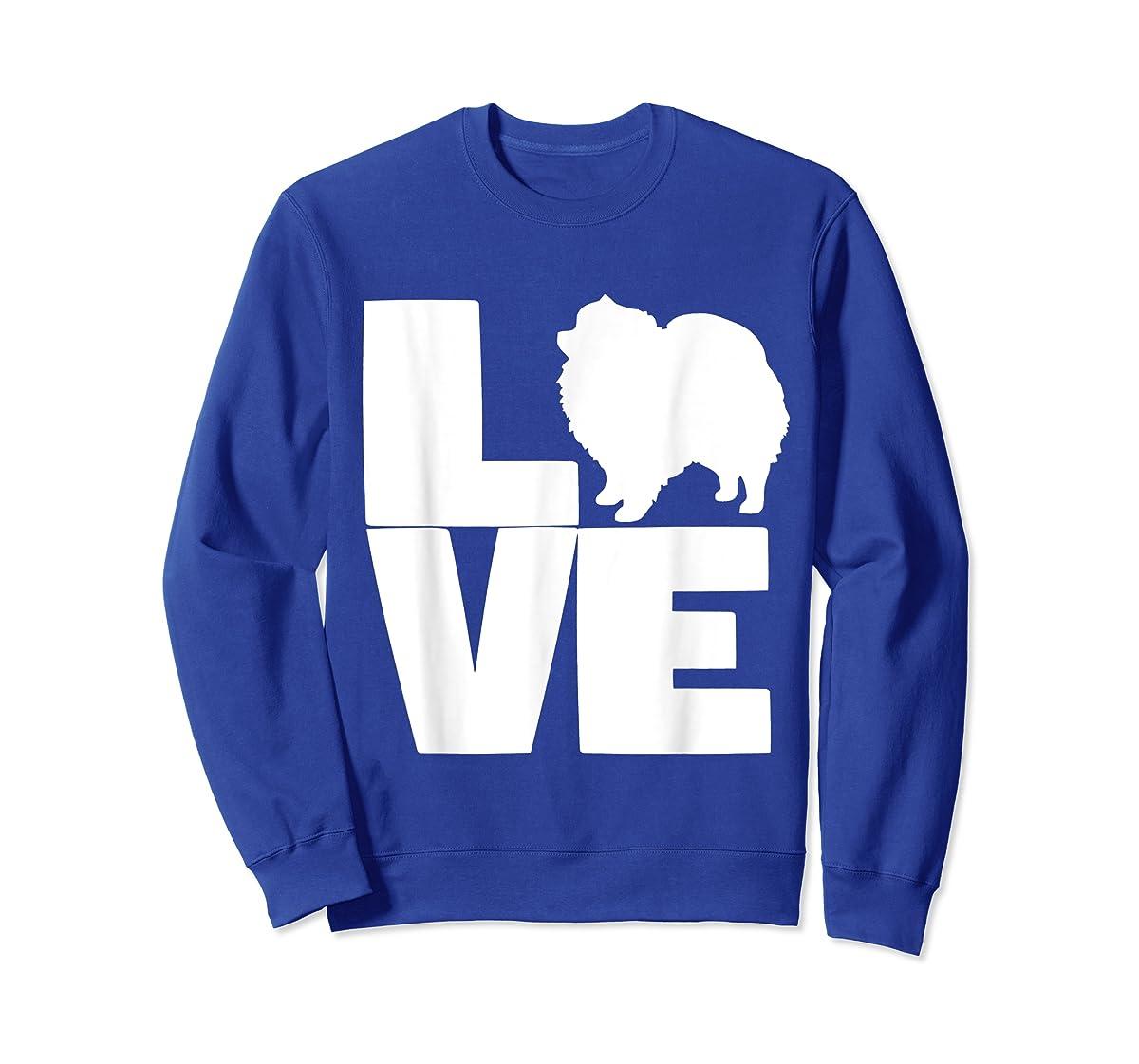 I Love Pomeranians Pom Mom or Dad Pet Lover T Shirt-Sweatshirt-Royal