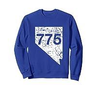 Carson City Reno Sparks Area Code 775 Shirt Nevada Gift Sweatshirt Royal Blue