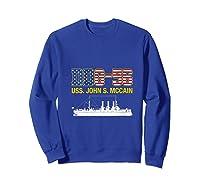 Ddg 56 Uss John S Mccain Shirts Sweatshirt Royal Blue