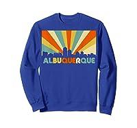 Albuquerque T Shirt City Skyline 70s Retro Souvenir Shirt Sweatshirt Royal Blue
