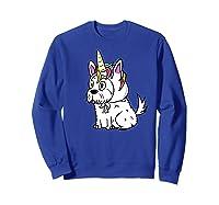 Bichon Frise Unicorn Hat Funny Dog Gift Shirts Sweatshirt Royal Blue