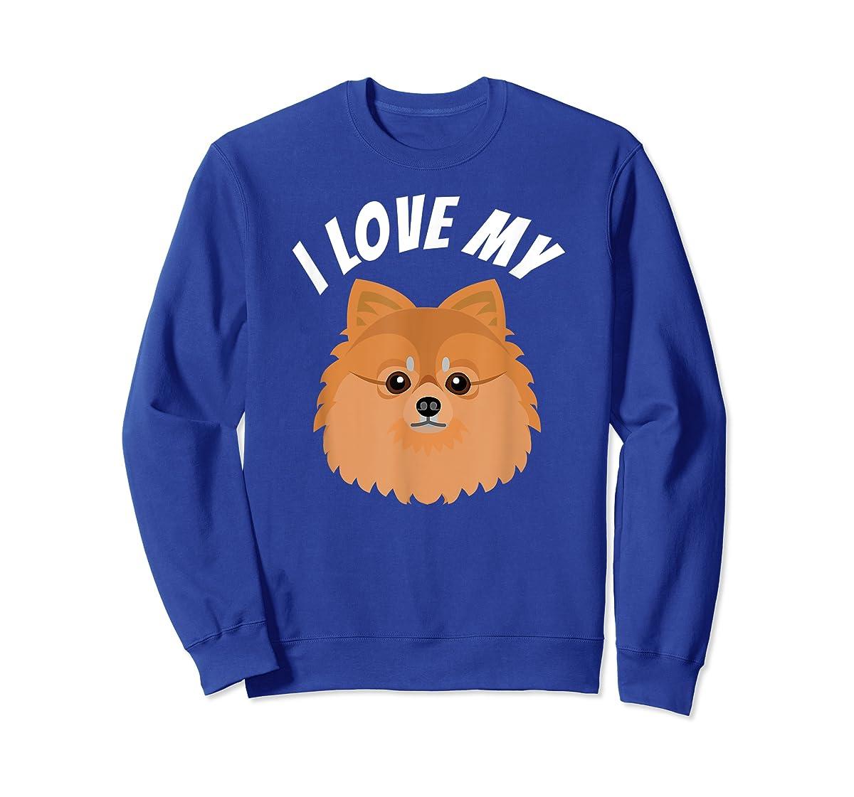 I Love My Pomeranian T-Shirt Dog Lover Tee-Sweatshirt-Royal