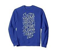 Grafi Tag Lettering Abc B-boy Streetart Urban Art T-shirt Sweatshirt Royal Blue