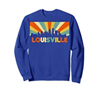 Louisville T Shirt City Skyline Retro 70s Souvenir Shirt Sweatshirt Royal Blue