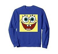 Nickelodeon Spongebob Open Smile Face T-shirt Sweatshirt Royal Blue