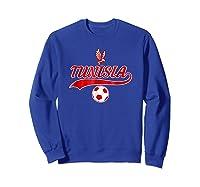 Tunisia Team World Fan Soccer 2018 Cup Fan T Shirt Sweatshirt Royal Blue