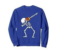 Halloween Dabbing Skeleton Football Dab Soccer Ball Shirts Sweatshirt Royal Blue