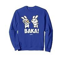 Funny Anime Baka Rabbit Baka Japanese Anime Lover Shirt Sweatshirt Royal Blue